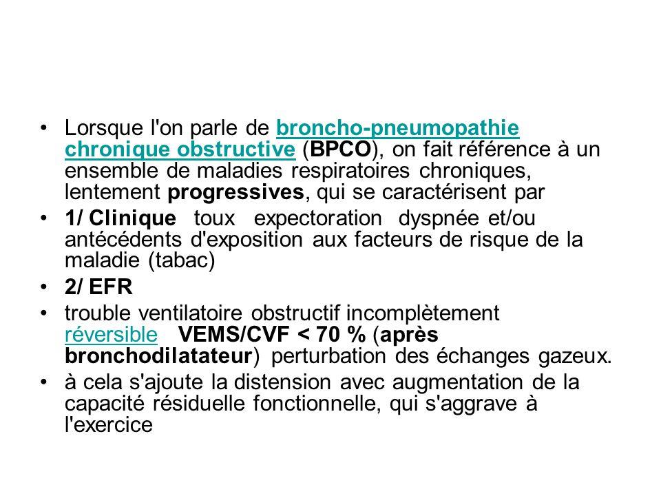 Lorsque l'on parle de broncho-pneumopathie chronique obstructive (BPCO), on fait référence à un ensemble de maladies respiratoires chroniques, lenteme