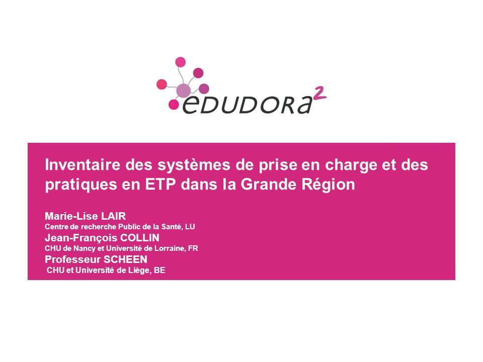 23 1) Les offres de soins Enquête confiée au Service des Informations Médico-Economiques du CHU de Liège en 2012 (Prof.