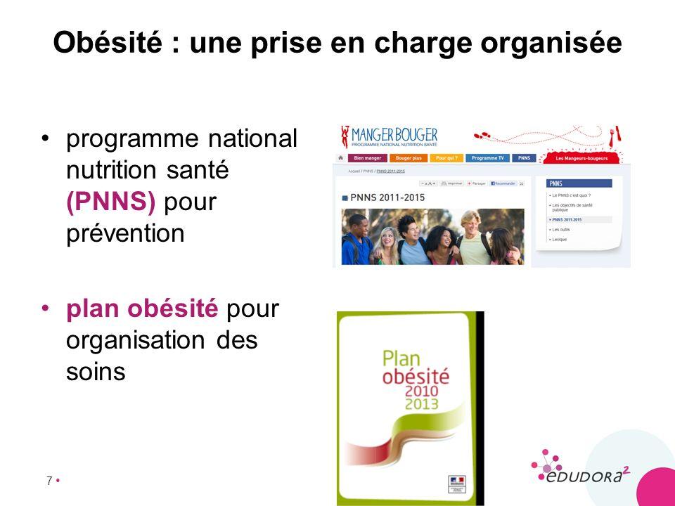 7 Obésité : une prise en charge organisée programme national nutrition santé (PNNS) pour prévention plan obésité pour organisation des soins