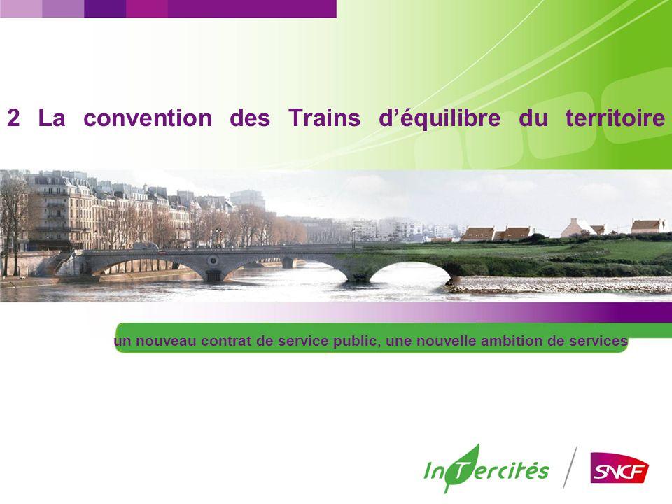 2 La convention des Trains déquilibre du territoire un nouveau contrat de service public, une nouvelle ambition de services