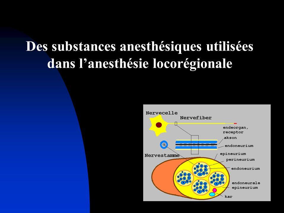 Des substances anesthésiques utilisées dans lanesthésie locorégionale
