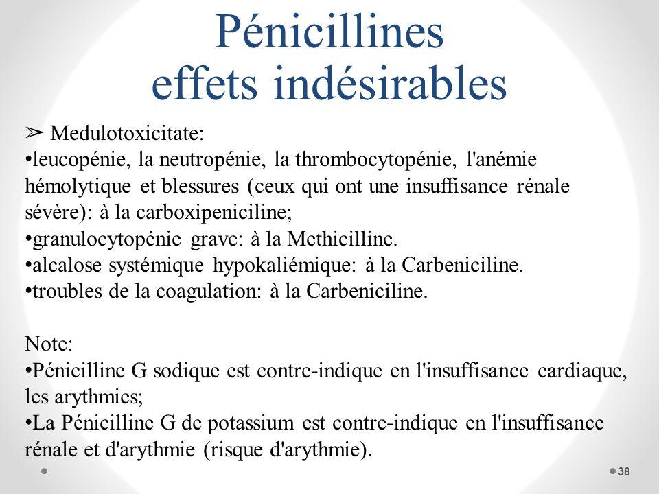 Pénicillines effets indésirables Medulotoxicitate: leucopénie, la neutropénie, la thrombocytopénie, l'anémie hémolytique et blessures (ceux qui ont un