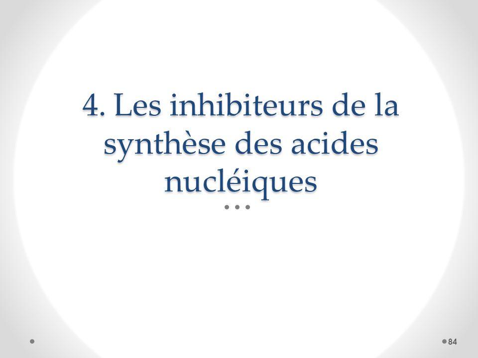 4. Les inhibiteurs de la synthèse des acides nucléiques 84