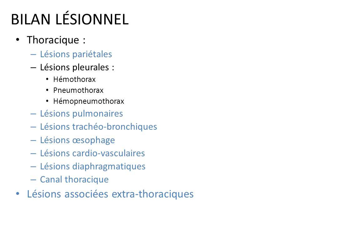 LÉSIONS PARIÉTALES « Traitement » En absence assistance ventilatoire Lors dune thoracotomie pour autres lésions indication stabilisation chirurgicale