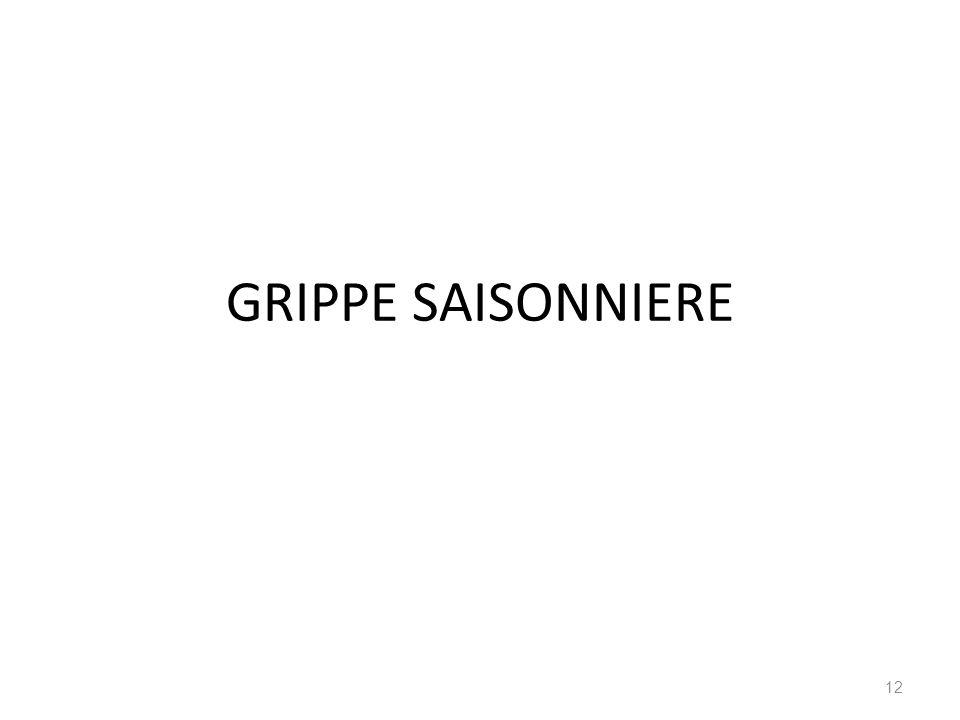 GRIPPE SAISONNIERE 12