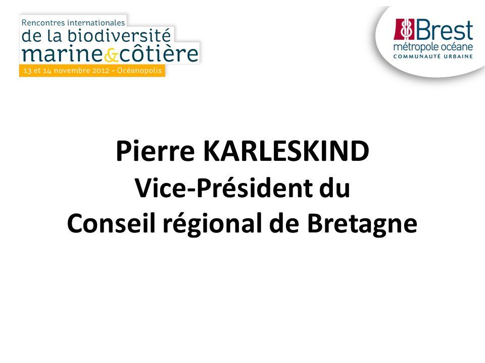 Pierre KARLESKIND Vice-Président du Conseil régional de Bretagne