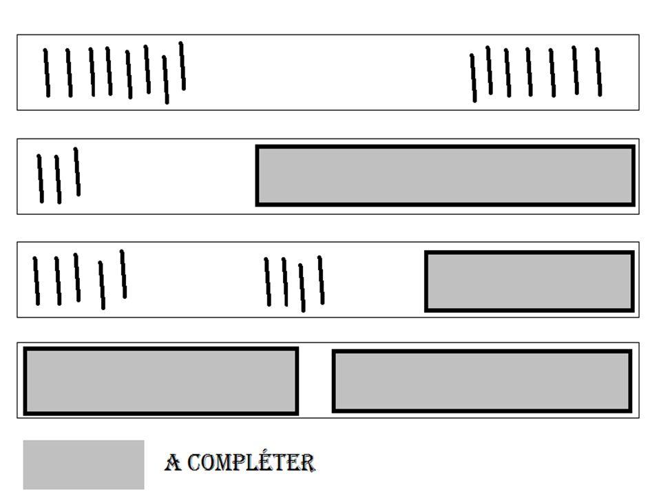 Transcription mathématique Transcrire en langage mathématique la somme des encoches de chaque face du bâton précédent.