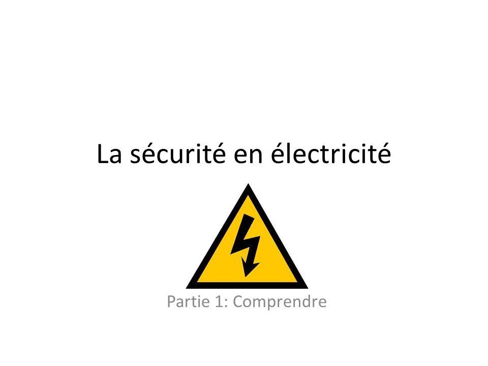 La sécurité en électricité Partie 1: Comprendre