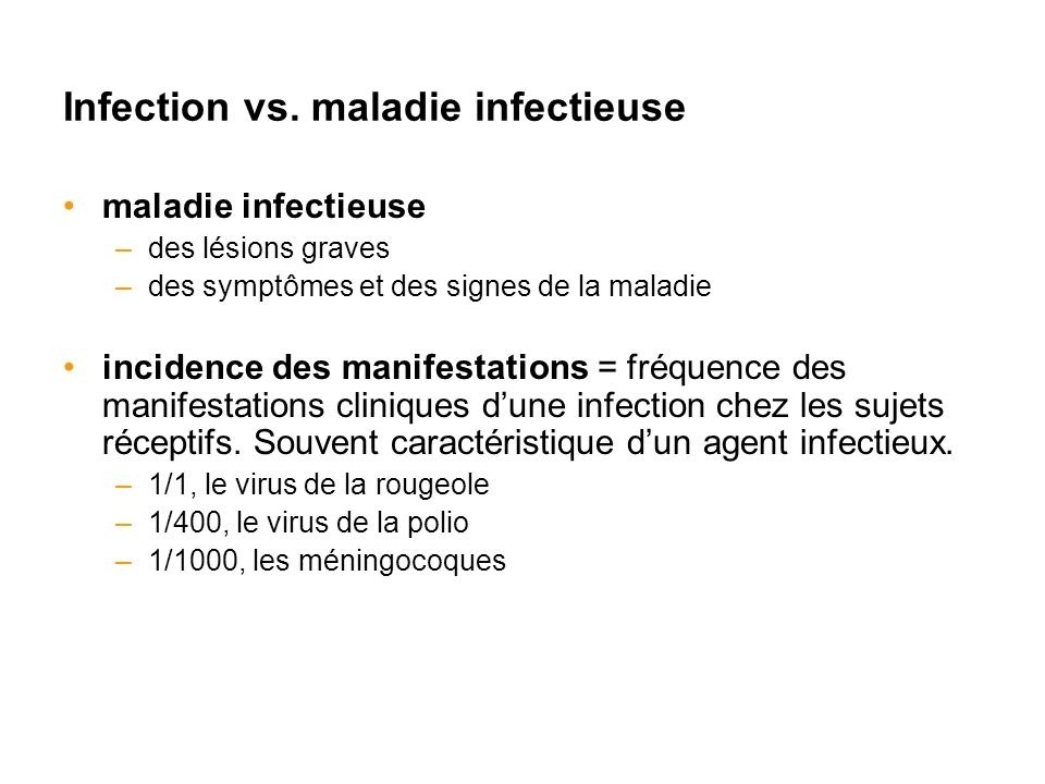 Infection vs.
