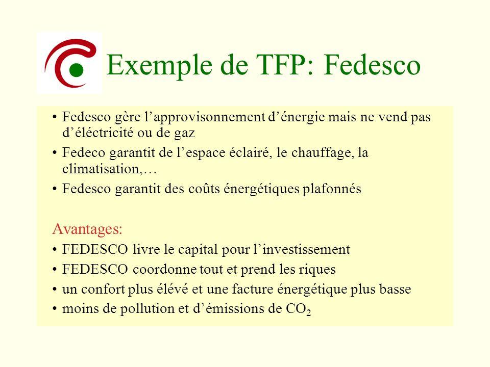 Fedesco gère lapprovisonnement dénergie mais ne vend pas déléctricité ou de gaz Fedeco garantit de lespace éclairé, le chauffage, la climatisation,… F