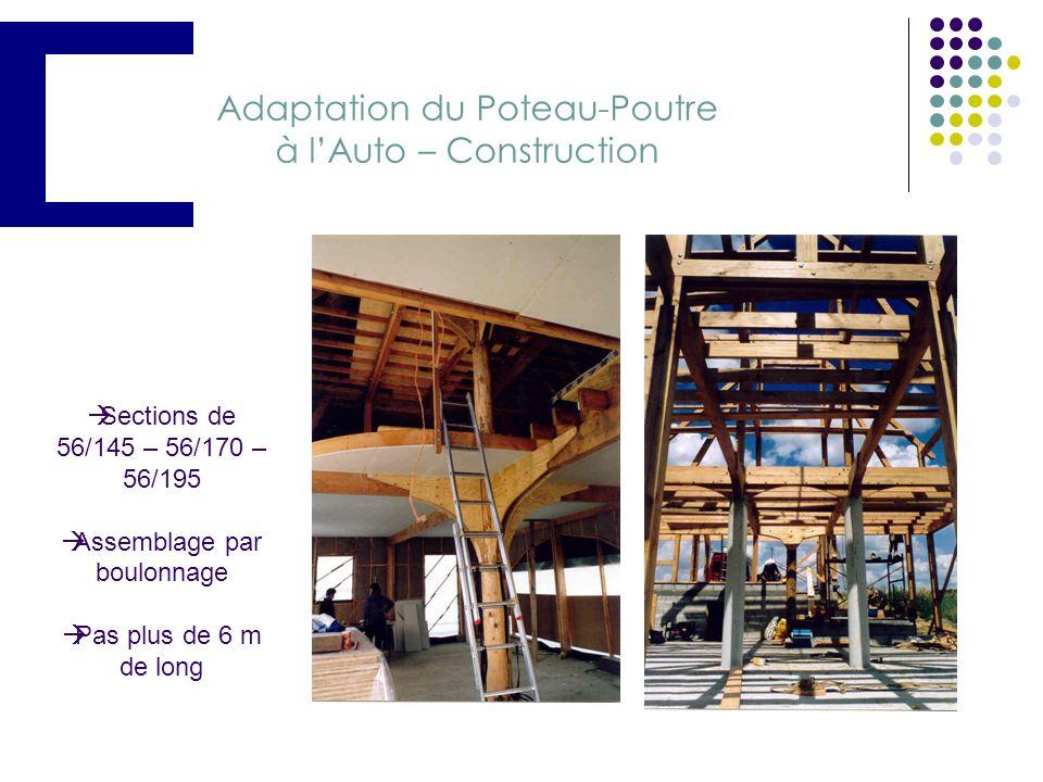 Choix du système constructif : Etude de lossature en poteau-poutre Adaptation du poteau poutre à lauto - construction Ossature Principale Et Ossature