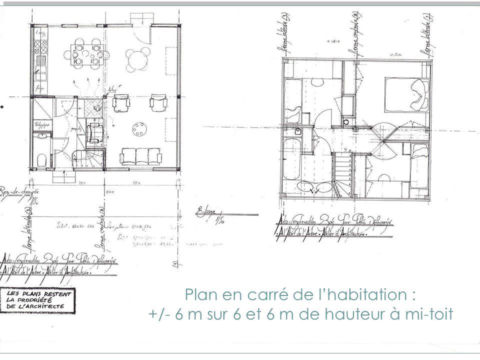 Etude de la construction bois pour une auto-construction aujourdhui Maison unifamiliale De 80 m2 pour 4 personnes, répondant aux normes du logement so