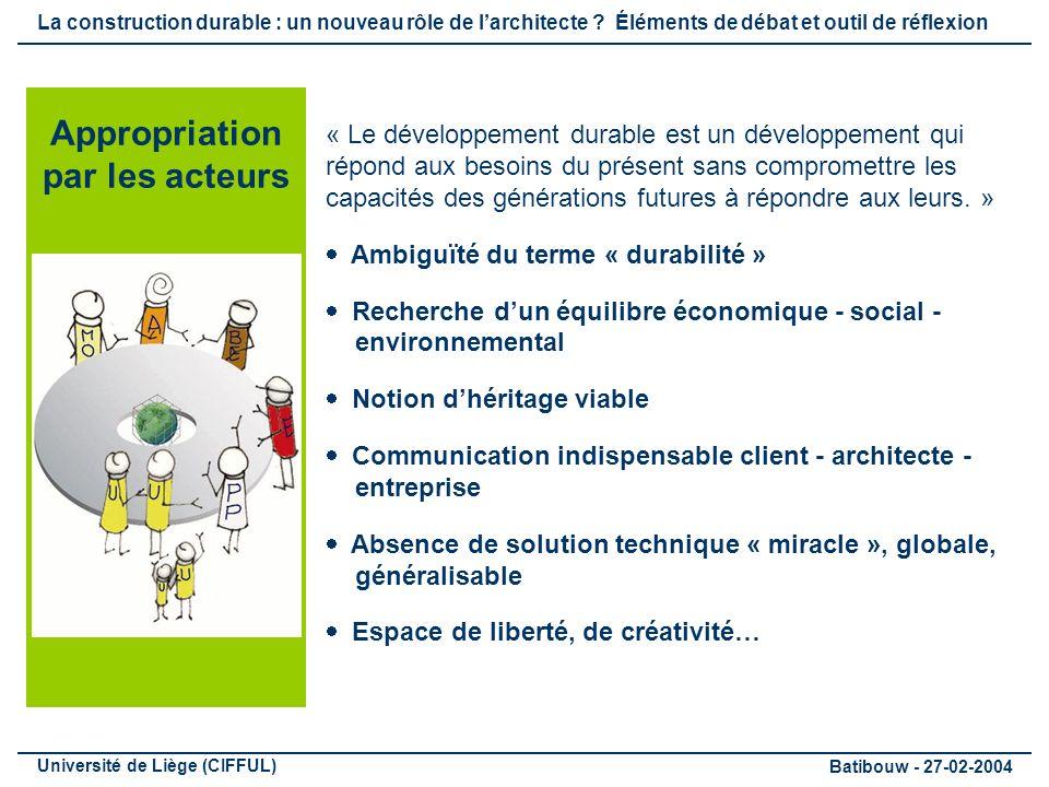« Le développement durable est un développement qui répond aux besoins du présent sans compromettre les capacités des générations futures à répondre aux leurs.