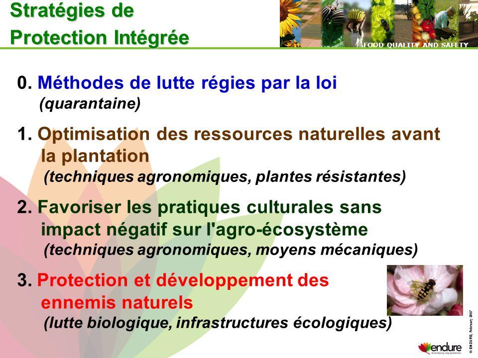 © ENDURE, February 2007 FOOD QUALITY AND SAFETY © ENDURE, February 2007 FOOD QUALITY AND SAFETY 0. Méthodes de lutte régies par la loi (quarantaine) 1