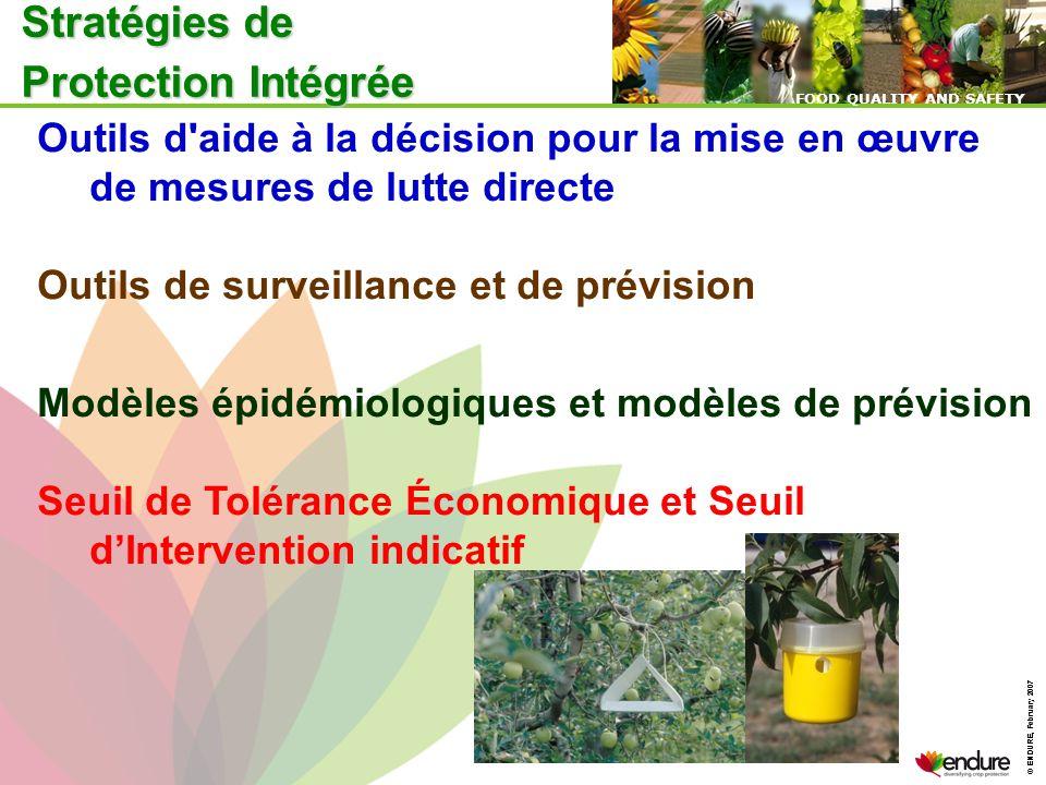 © ENDURE, February 2007 FOOD QUALITY AND SAFETY © ENDURE, February 2007 FOOD QUALITY AND SAFETY Outils d'aide à la décision pour la mise en œuvre de m