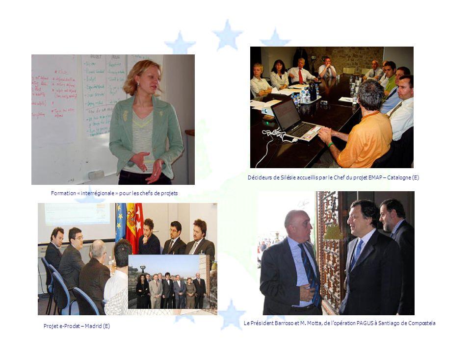 Projet e-Prodat – Madrid (E) Décideurs de Silésie accueillis par le Chef du projet EMAP – Catalogne (E) Formation « interrégionale » pour les chefs de