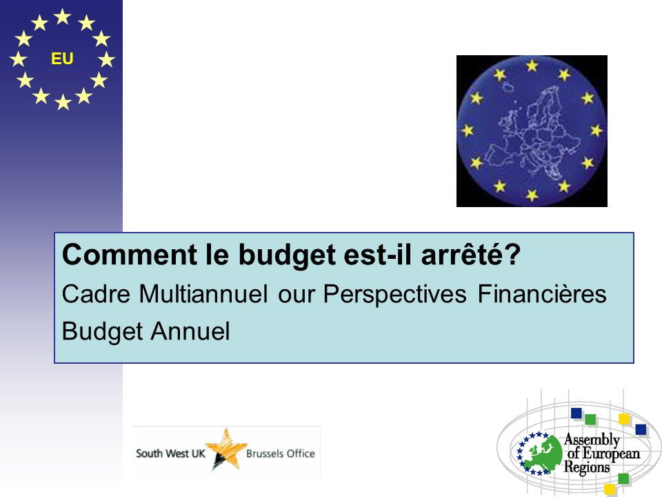 EU Comment le budget est-il arrêté? Cadre Multiannuel our Perspectives Financières Budget Annuel