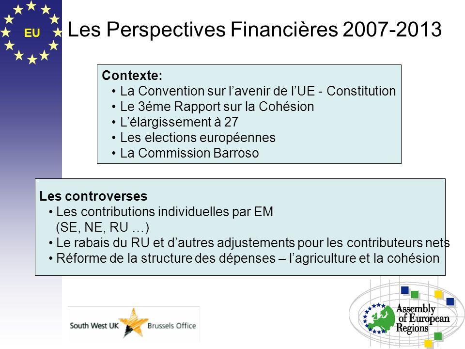 EU Les Perspectives Financières 2007-2013 Contexte: La Convention sur lavenir de lUE - Constitution Le 3éme Rapport sur la Cohésion Lélargissement à 2