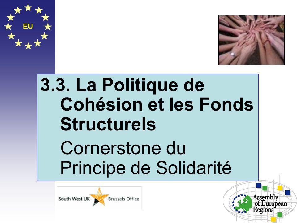 EU 3.3. La Politique de Cohésion et les Fonds Structurels Cornerstone du Principe de Solidarité