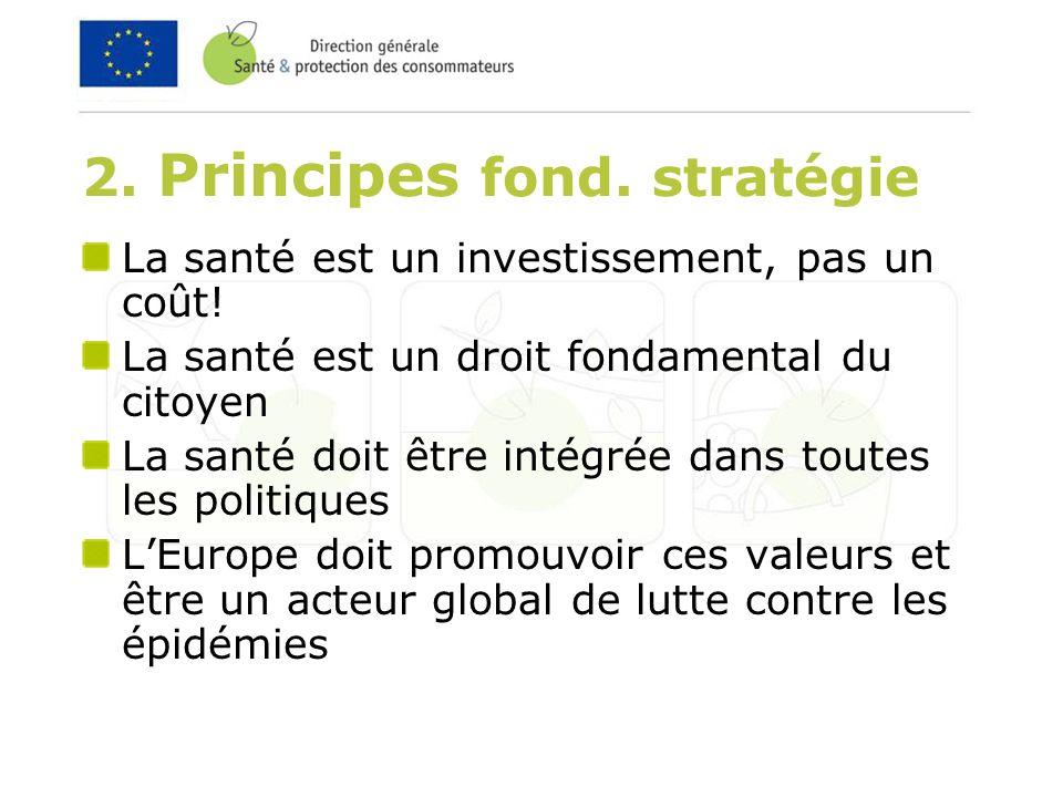 2. Principes fond. stratégie La santé est un investissement, pas un coût.