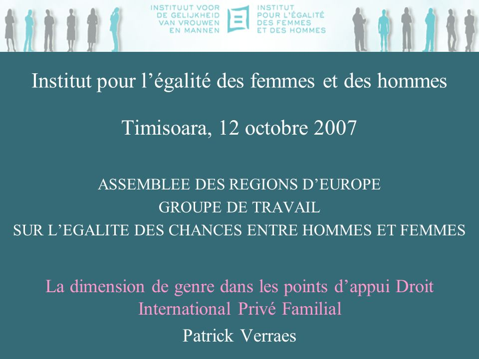 Historique du projet Problèmatique: -conseils juridiques -aux personnes résidant en Belgique -confrontés à des difficultés familiales -liées à la rencontre de plusieurs systèmes juridiques + objectif principal = promotion de légalité entre les h/f