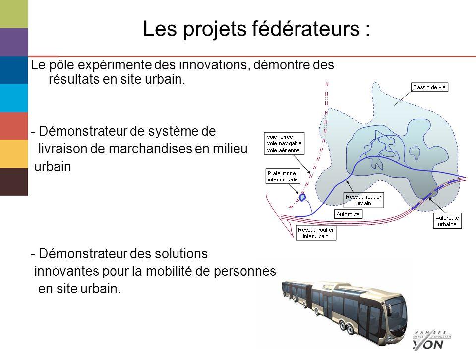 Les projets fédérateurs : Le pôle expérimente des innovations, démontre des résultats en site urbain.