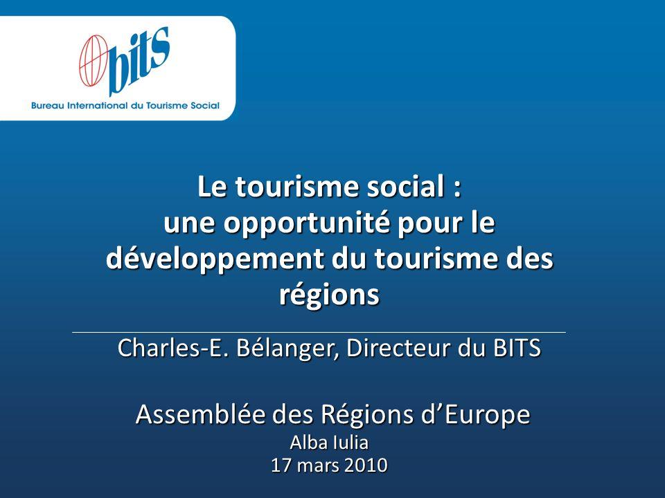 Le tourisme social : une opportunité pour le développement du tourisme des régions Charles-E.
