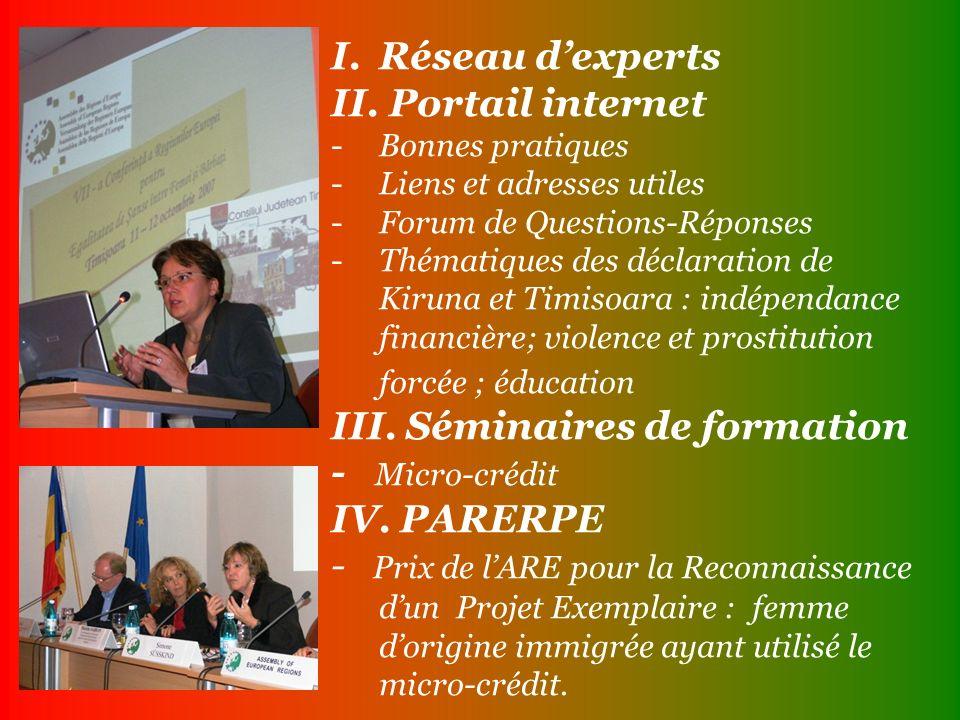 I.Réseau dexperts II.