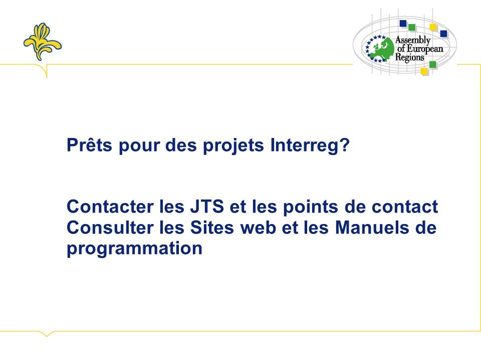 Prêts pour des projets Interreg.