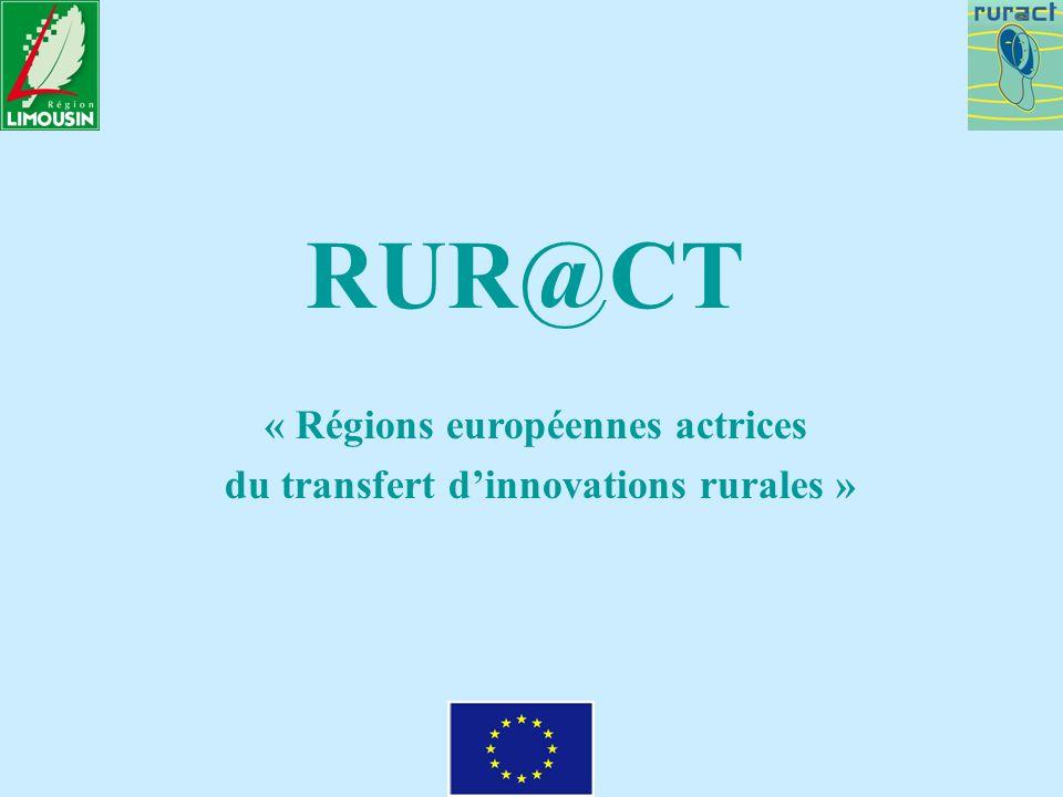 RUR@CT « Régions européennes actrices du transfert dinnovations rurales »
