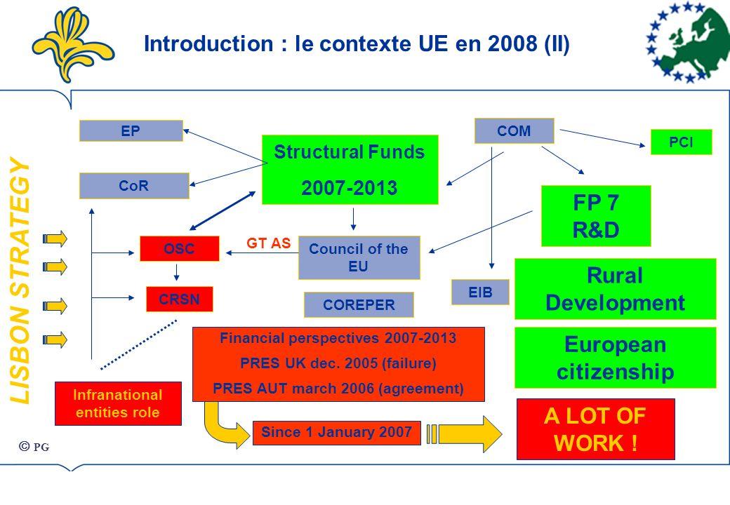 LISBON STRATEGY Structural Funds 2007-2013 COM FP 7 R&D PCI EIB Council of the EU Financial perspectives 2007-2013 PRES UK dec.