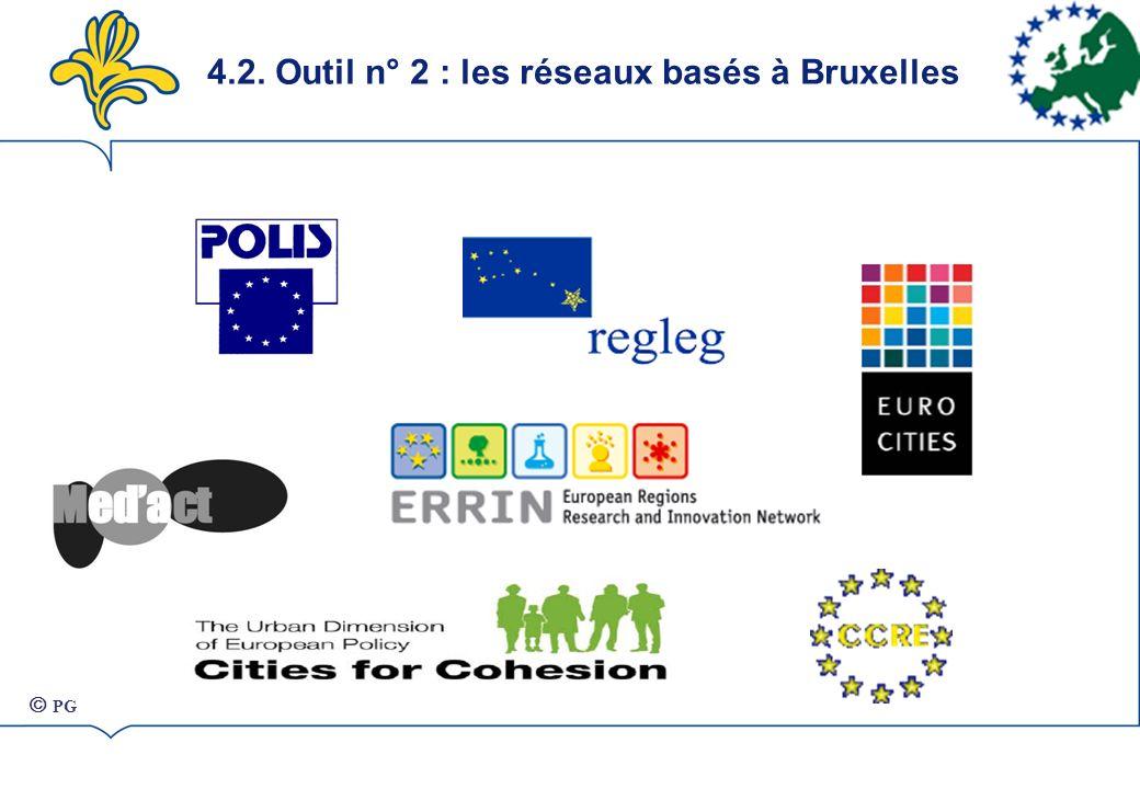 4.2. Outil n° 2 : les réseaux basés à Bruxelles PG