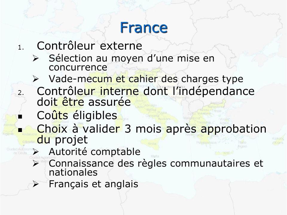 France 1. Contrôleur externe Sélection au moyen dune mise en concurrence Sélection au moyen dune mise en concurrence Vade-mecum et cahier des charges