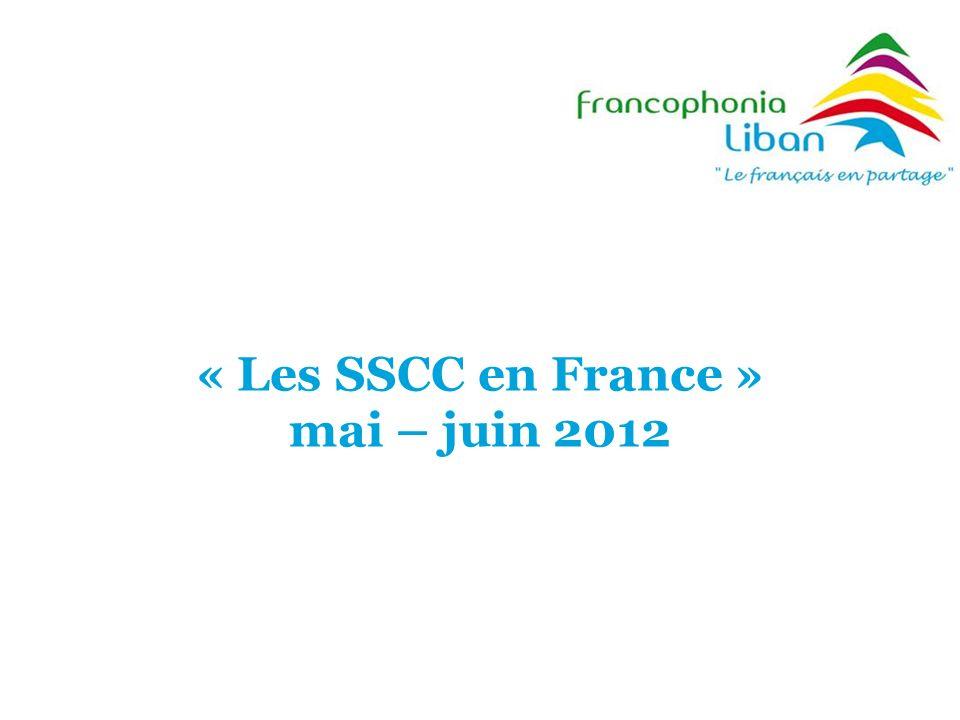 « Les SSCC en France » mai – juin 2012