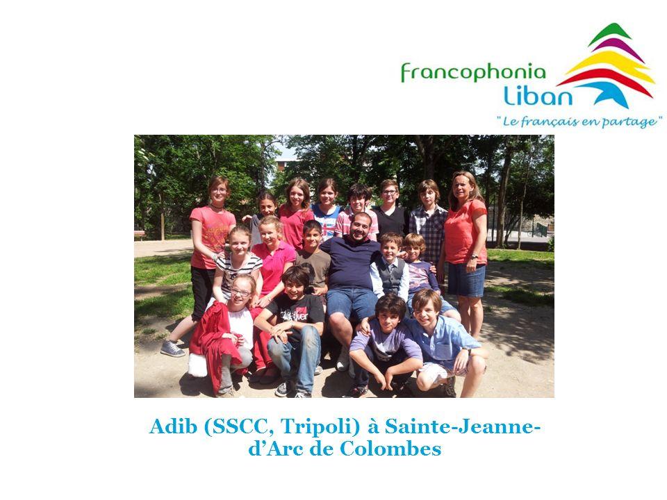 Adib (SSCC, Tripoli) à Sainte-Jeanne- dArc de Colombes
