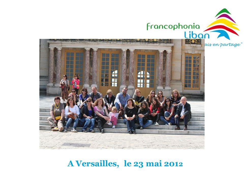A Versailles, le 23 mai 201 2