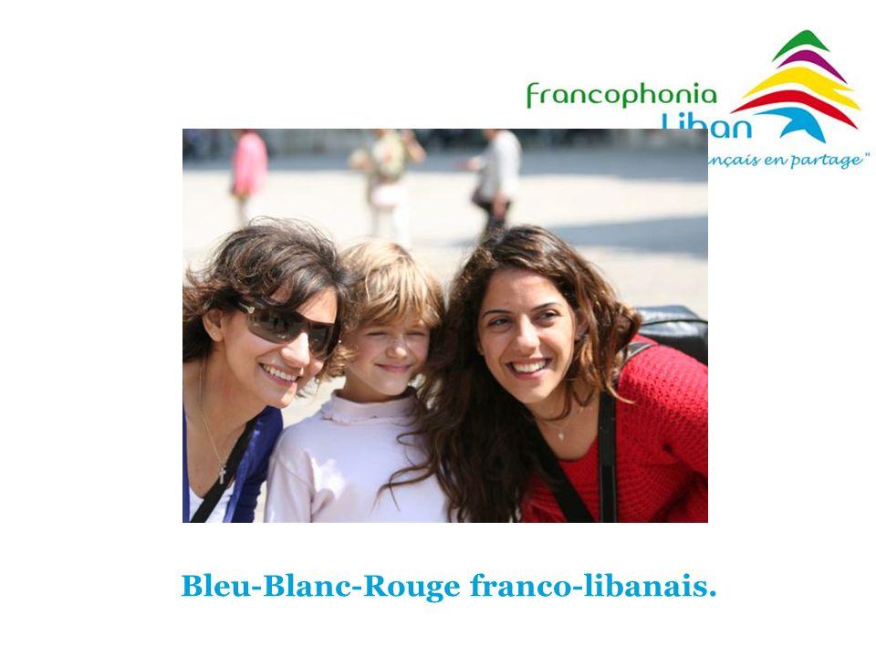 Bleu-Blanc-Rouge franco-libanais.