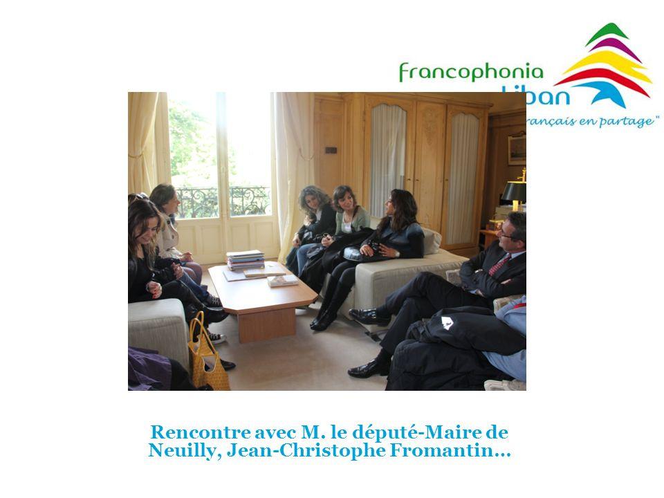 Rencontre avec M. le député-Maire de Neuilly, Jean-Christophe Fromantin…