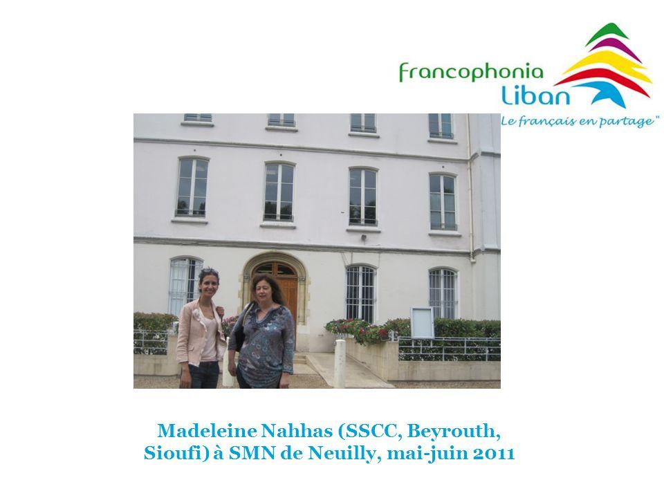 Madeleine Nahhas (SSCC, Beyrouth, Sioufi) à SMN de Neuilly, mai-juin 2011