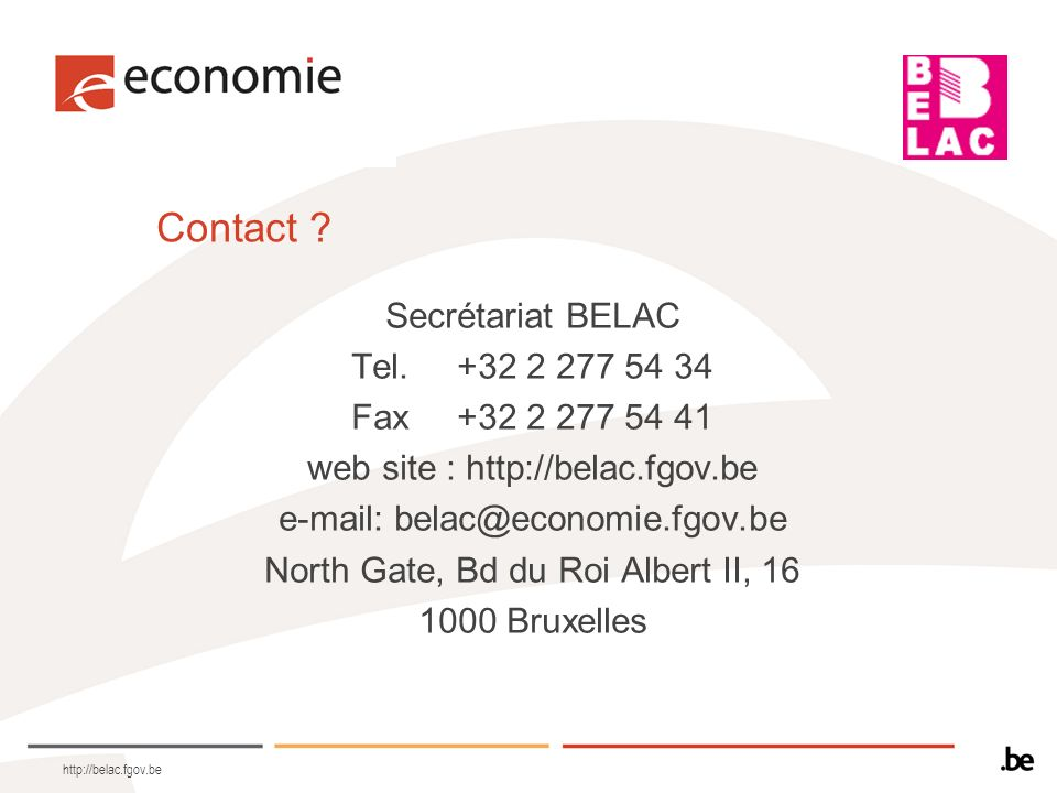 http://belac.fgov.be Contact .