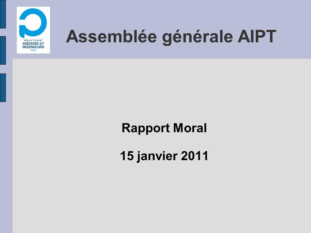 Assemblée générale AIPT Rapport Moral 15 janvier 2011