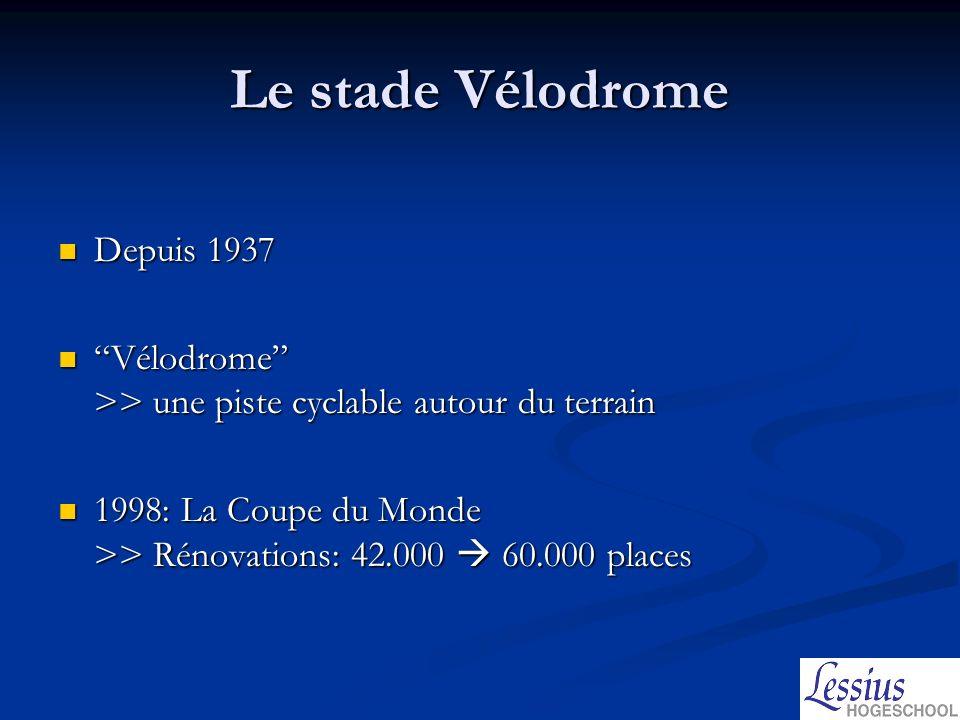 Le stade Vélodrome La tribune Ganay >> 20.000 places La tribune Ganay >> 20.000 places La tribune Jean Bouin >> 12.000 places La tribune Jean Bouin >> 12.000 places Le virage Nord >> 14.000 places Le virage Nord >> 14.000 places Le virage Sud >>14.000 places Le virage Sud >>14.000 places