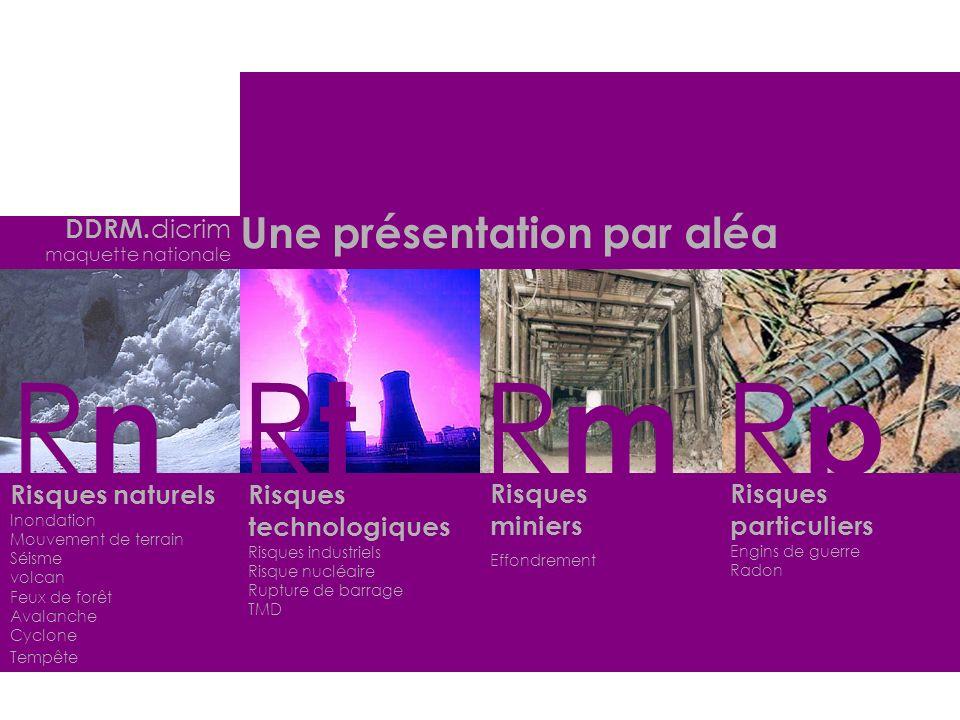 Le contexte régional Le risque dans le département Le risque dans la commune Les généralités Pour chaque aléa GRDC DDRM.