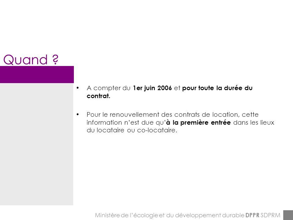 ENPC-7&8-12-2005 Ministère de lécologie et du développement durable DPPR SDPRM Savoir plus