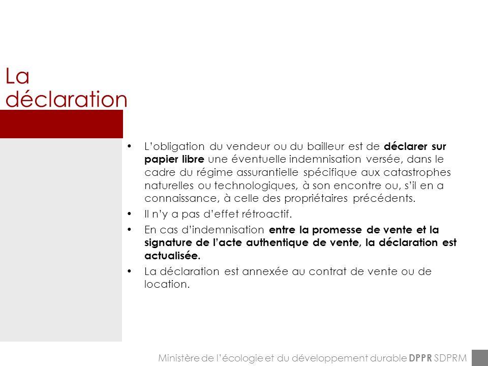 ENPC-7&8-12-2005 La fiche DCI Ministère de lécologie et du développement durable DPPR SDPRM La fiche
