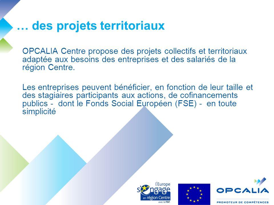 OPCALIA Centre propose des projets collectifs et territoriaux adaptée aux besoins des entreprises et des salariés de la région Centre.