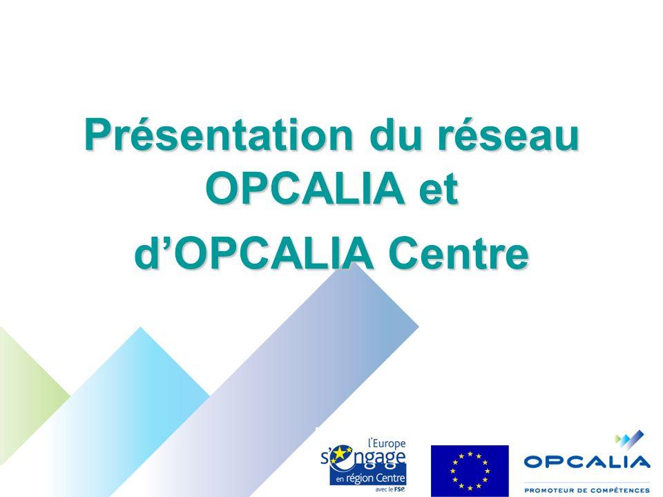 Présentation du réseau OPCALIA et dOPCALIA Centre