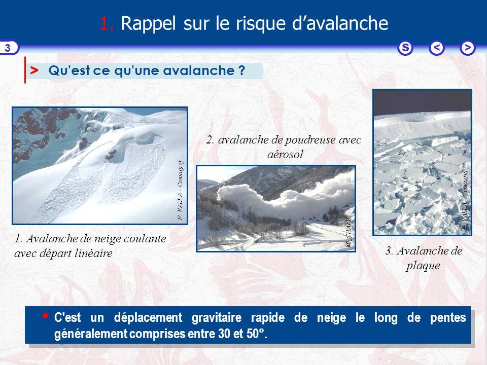 <>S 14 54321 L exemple de l avalanche de l Alpet à Abriès (05) Les limites extrêmes atteintes par l avalanche du 19 janvier 2004 ont dépassé celles reportées sur la carte éditée en 2001.