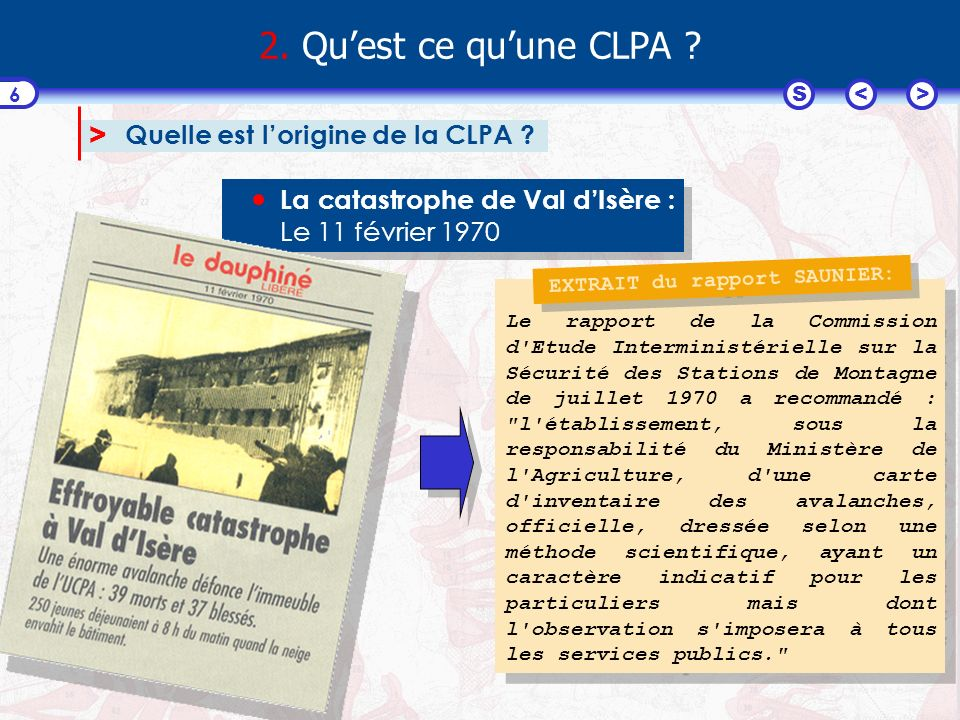<>S 17 6.Dans quel cas peut-on utiliser une CLPA .