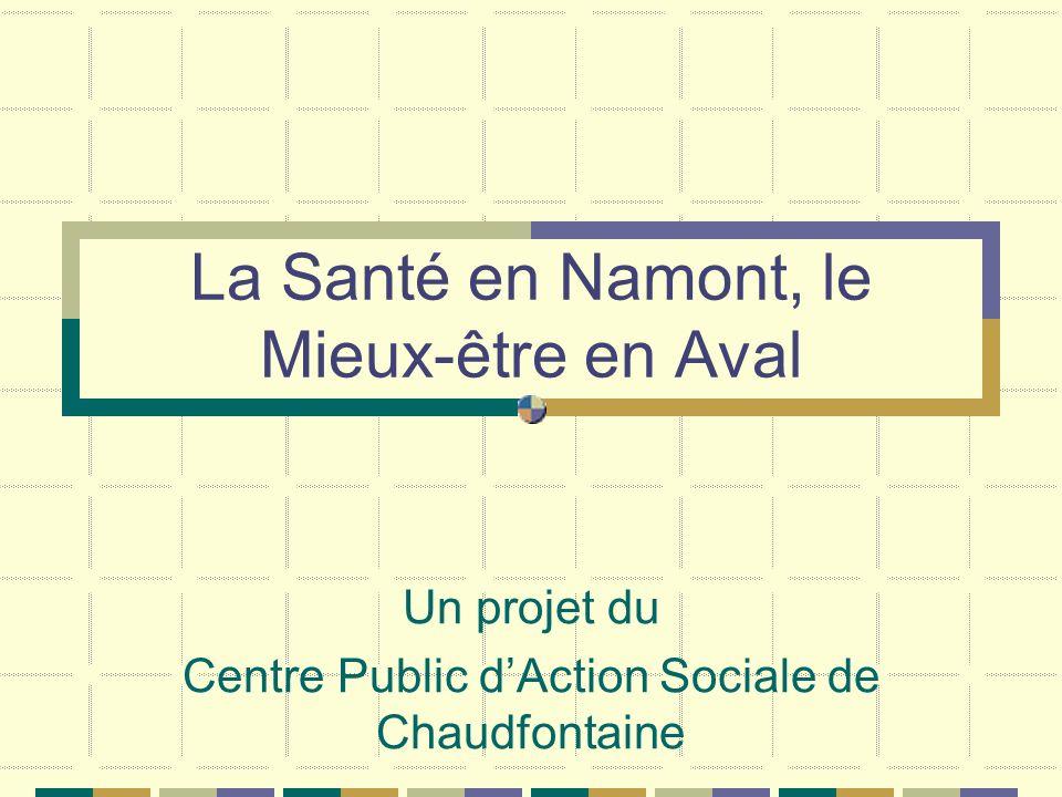 La Santé en Namont, le Mieux-être en Aval Un projet du Centre Public dAction Sociale de Chaudfontaine
